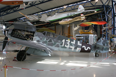 A beautifully preserved Bf.109G-6 at the Diamond museum