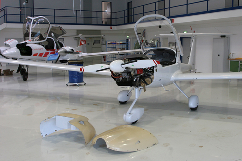 With the wings on, the aircraft are towed to the next hangar for systems assembly. Most of the basic framework for the electrics, as well as the G1000 suite, had already been fitted during structural assembly