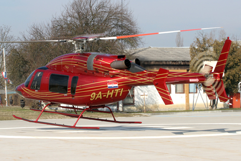 Gently lifting off from the Police helipad