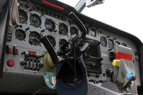 Despite the aircraft's rather agricultural appearance, it has an excellent panel equipment package. Everything's here - moving map GPS, Mode S transponder and a full IFR suite of instruments.