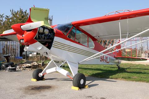 Photo Dossier – Piper PA-18-150 Super Cub, 9A-XLJ/9A-DLJ   Achtung, Skyhawk!