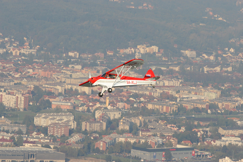 Approaching to form off our right wing above the city of Zagreb