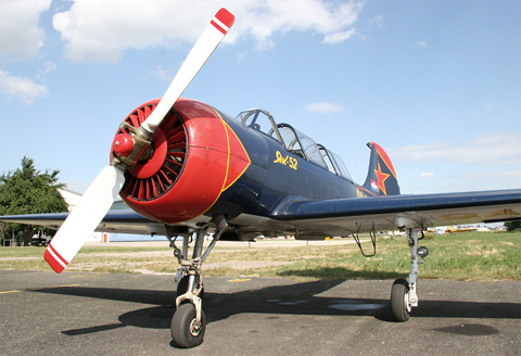 The owner's former Yak-52. Now flying in Portugal as RA-3466K with a four-ship aerobatic team