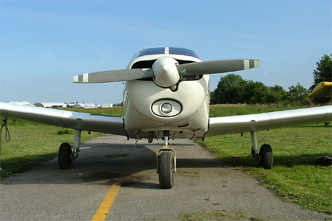 From any angle, the Cherokee Cruiser is a diminutive aircraft. At my height, I wonder how would I fit in it :)