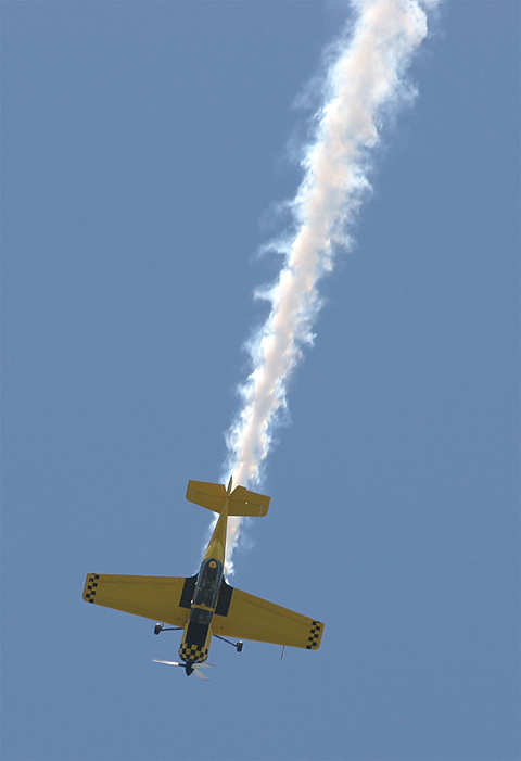 Pulling out of a loop - a wow! in Croatia - at a local airshow