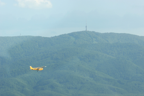 DMJ on our left again - after a brief fast pass to our right - with the Sljeme TV and radio tower visible in the distance