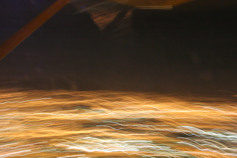 Something a little different :). A motion-blurred Zagreb from 3,000 feet during Night VFR training