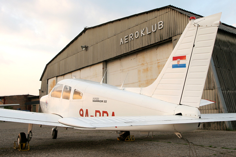 """Another atmospheric shot in some excellent lighting. The """"Aeroklub"""" refers to Aeroklub Zagreb, the oldest flying club in Croatia founded way back in 1924. and managing Lučko since 1958. when passenger operations switched to Pleso"""