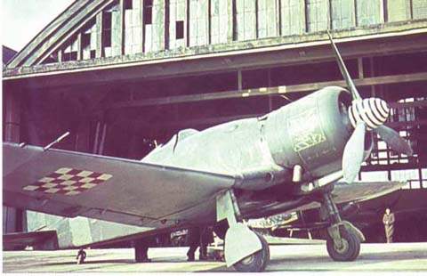 A Fiat G.50bis of the Ustaška Eskadrila in front of a hangar at Borongaj (still standing today). Credit for the photo goes out to... whoever photographed it back then :)