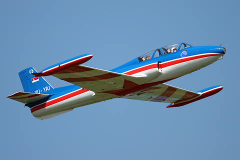 The locally grown (ex-Yugoslavia) Soko G-2 Galeb (Seagull) trainer is a must for every show