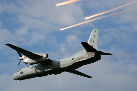 Though not part of the aircraft's standard equipment, flare packs have been retrofitted to the CroAF's two An-32s during maintenance a couple of years back