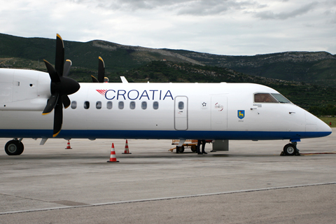 "Christened ""Istra"" after the Istrian peninsula (and an ATR-42 of the same name), 9A-CQC was at the this time the newest Q400 in the inventory (the previous two being 9A-CQA and -CQB)"