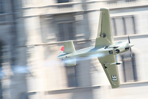 Rocketing along the tightest and one of the most difficult tracks of the whole Air Race season