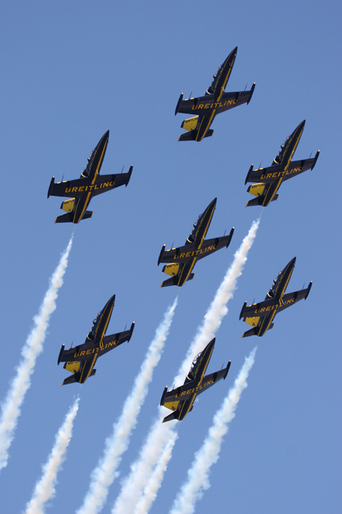 In the interlude between races (the race is composed of the Top 12, Super 8 and Final 4 runs) a number of flying displays kept the adrenaline flowing. The Breitling Jet Team, flying their beautiful L-39s, were one of the highlights