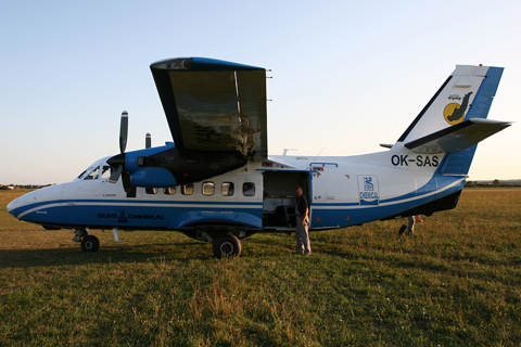 The crew preparing for the flight home on 30.08. As we do not have - in practice - anything resembling a customs station at Lučko, all foreign visitors leaving the country must first stop at Pleso (LDZA)