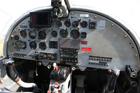 The cockpit is relatively simple - with a number of original gauges - but incredibly spacious and airy. And, because you site quite high up, you have an enviable commanding view