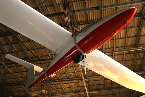 A more exciting view of the hangar's Pilatus ceiling ornament :)