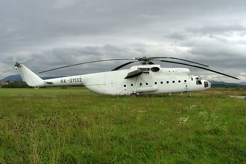 With an overall length of 33 meters and a rotor diameter of 35 meters, this is one huge machine! Shot in 2005, I took this picture with my old Fuji S5000 while I was helping to prepare for a precision landing championship at the RWY 10 (far)end