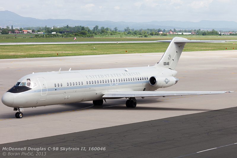 "A military ""combi"" version of the DC-9-32, the C-9B"