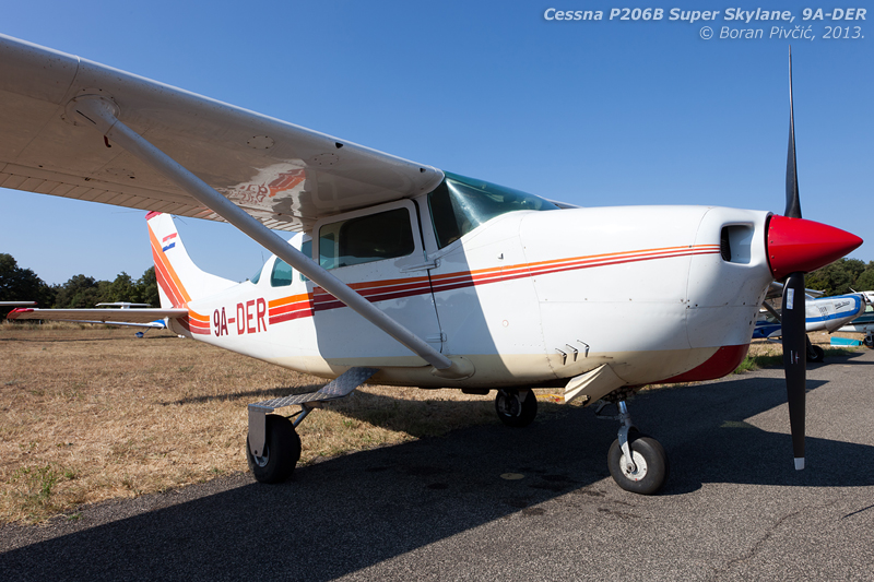 Still airworthy - and unusually clean - DER is the only first-gen 206 in Croatia and still leads an active life in passenger and occasional skydive ops.