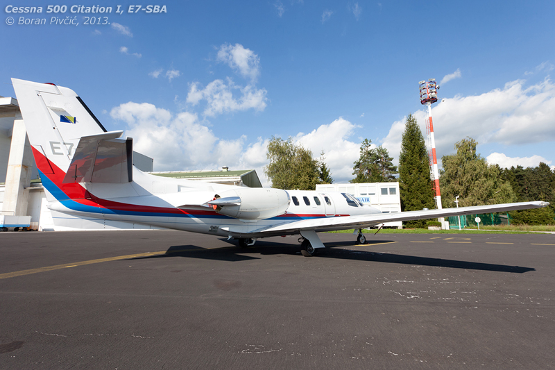 Hiding between the Globals, Galebs and abandoned Embraers was this beautiful Citation 500, the official aircraft of the Republika Sprska and one of the very few surviving original Citations. Clean and tidy, this little thing will likely soon become another addition to the Croatian register .