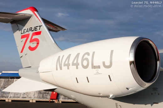 It's hard not to notice those classic, speedy lines that have been the hallmarks of the Learjet ever since the original model 23 of 1963.