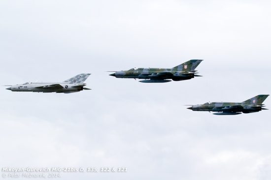 Fresh out of the test program, 135 leads 122 and 121 - then the QRA pair - on