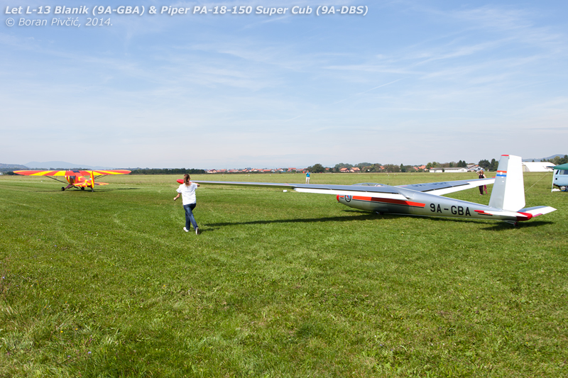 An aerotow takeoff often requires a bit of help on the ground . Due to the absence of a conventional landing gear arrangement, most gliders - especially those of larger span - require someone to hold the wingtip at the start of the take-off run. Intended to prevent it hitting the ground and slewing the glider off course, this is only needed during the first seconds of the run, until the speed builds up sufficiently for the aerodynamic forces on the ailerons to take over .