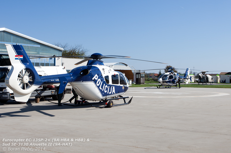 You could be forgiven for thinking that Lučko was having a helicopter theme day today! As well as HAT, HBA and HBB (the latter of which would later fly a short winch test), we'd soon be joined by Agusta-Bell AB.212 9A-HBM, which had - despite the day's wind and in true Huey fashion - announced its arrival from miles away. Interestingly, the military side of the airfield was deserted for most of the afternoon, without a single Mi-8/171 to be seen (which in itself is quite unusual).