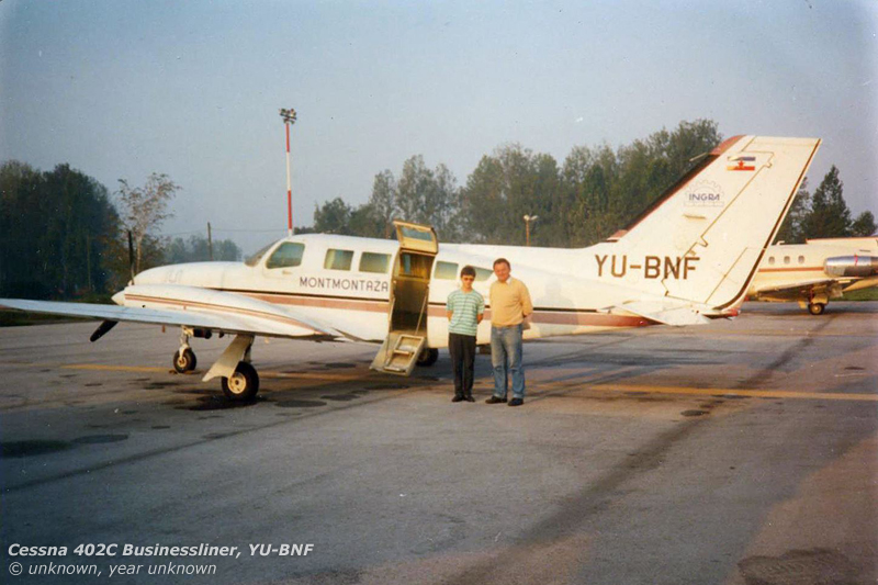 One of the very few shots of BNF in its original guise. In the background is Hawker-Siddeley HS.125 YU-BME, which would also play a part in CTN's story.