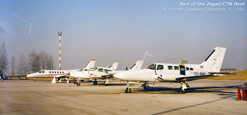 All three types in the fleet posing at some unspecified time either in late 1990 or early 1991. This is also the only shot I could find which includes both YU-DFN and DFO - though I can't really tell which is which.