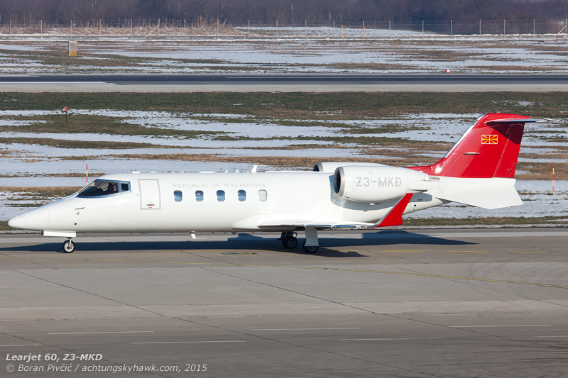 First a Falcon 50 and then a Learjet 60 - not a bad way to start the day! Crisp, clean and elegant, Z3-MKD was the second visitor to arrive, hailing from Macedonia (the country, not the Greek province).