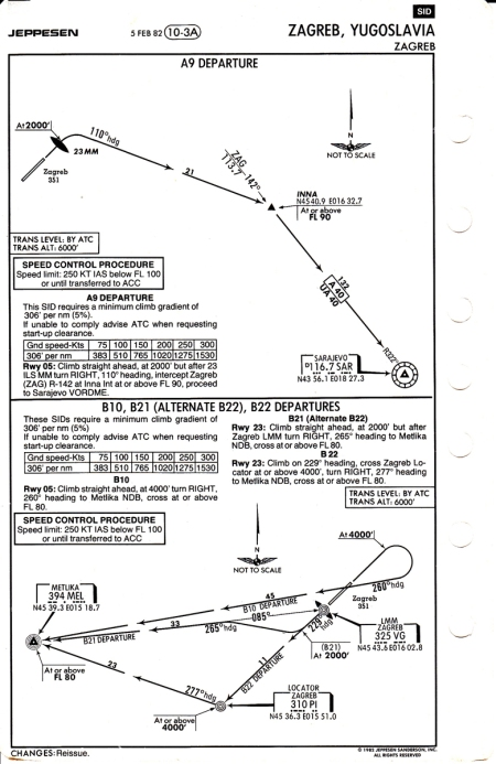 """Another departure (and another chart that is far more cluttered in 2015). Among the many other notable differences, the point INNA from the upper procedure no longer exists, while the locator PI from the lower procedure is now a """"full-blown"""" NDB called PIS and operating on 424 kHz."""