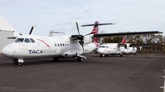 An eye-catching train of ATR-42-300s waiting out their fate on Zagreb's maintenance apron. Latterly owned by South American carrier Aviateca - operating mostly out of Honduras and Guatemala - all three have over the months become well-known residents of the airport, though the leading machine will soon become the first to fly the nest. Originally known as HR-AXN, it had recently been re-registered G-ISLJ and will - if the Internet is to be believed - imminently join the fleet of UK operator Blue Islands. Somewhat more worse for wear, HR-AUX and TG-TRB in trail have a more uncertain future ahead however... but, they at least have a past to compensate, having previously accounted for two of the three 42s operated by Croatia Airlines in the 90s and early 2000s, then known as 9A-CTU and 9A-CTT respectively.